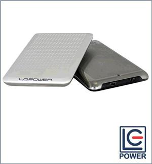 "BOX ESTERNO LC-POWER ULTRASLIM BIANCO USB 2.0 PER HDD SATA DA 2,5"" EH-25WU"